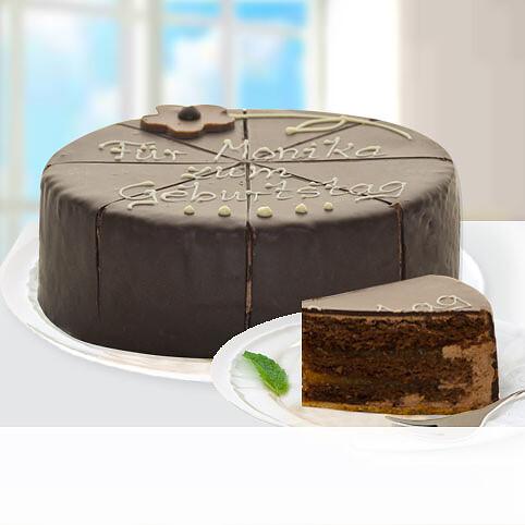 Herrliche Dessert-Sachertorte, beschriftbar