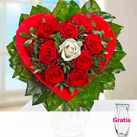 Rosenstrauß Liebesbote