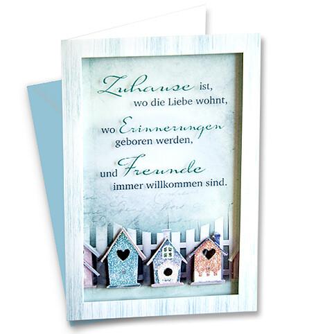 Passepartoutkarte mit Klasichtfenster