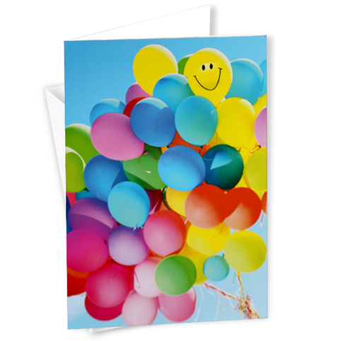 Motivkarte Neutral Luftballons