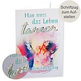 Motivkarte Geburstag mit Acryl-Schriftzug