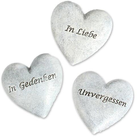 Herzstecker mit Spruch