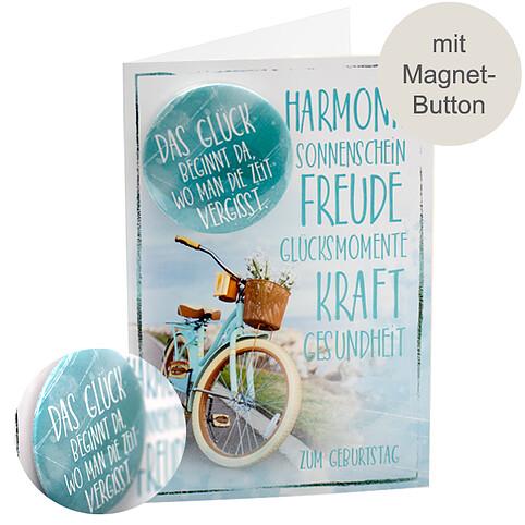 Geburtstagskarte mit Magnet-Button