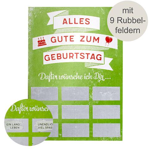 Rubbel-Postkarte
