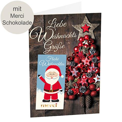 Merci-Weihnachtskarte