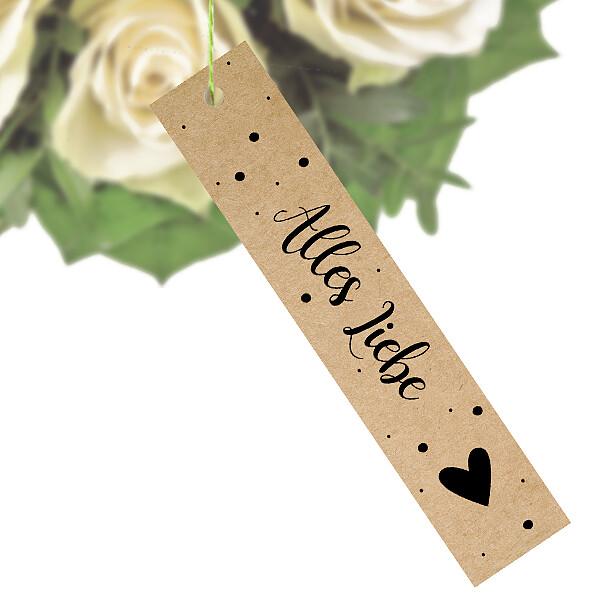 """Blumenstecker """"Alles Liebe"""""""