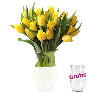 20 gelbe Tulpen <br>im Bund