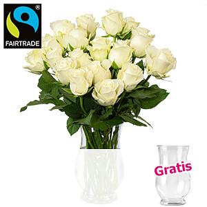 20 weiße Rosen <br>im Bund