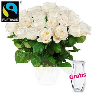 20 weiße Rosen <br>im Bundh